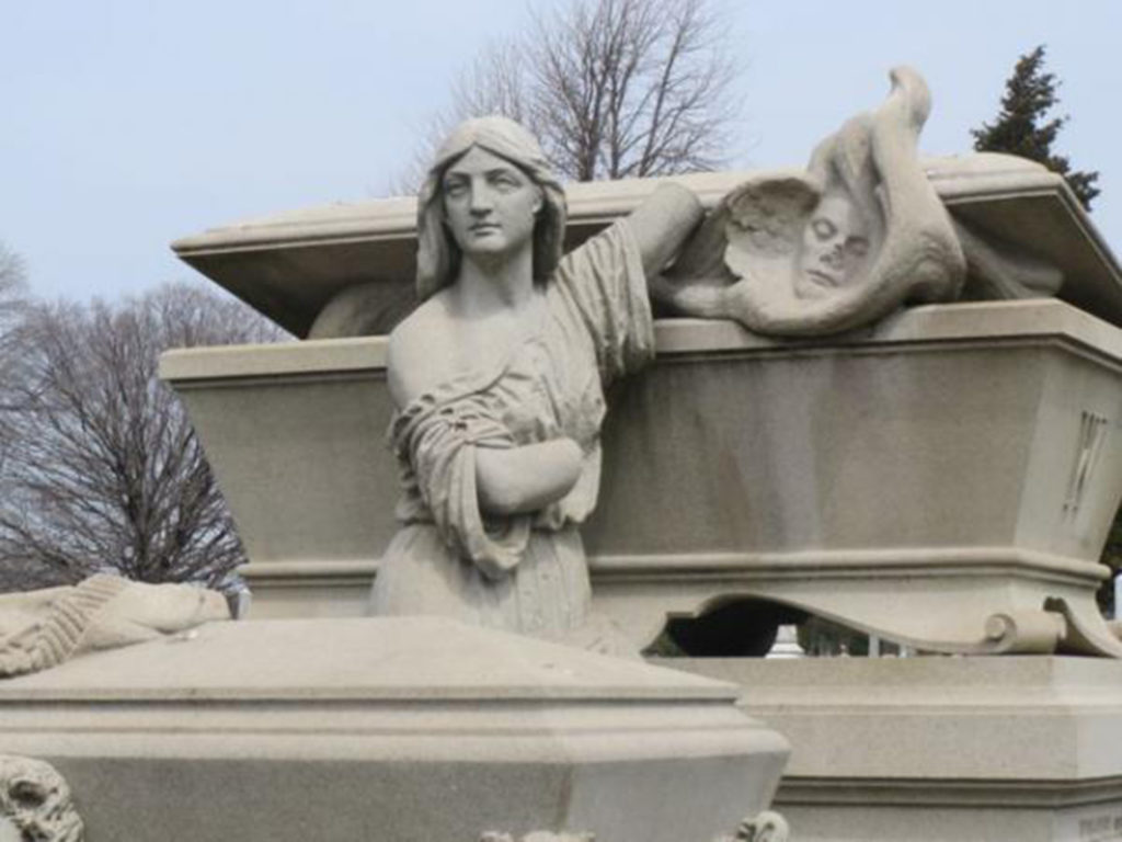William Warner Memorial, Laurel Hill Cemetery (photograph by Anne)